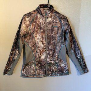 Cabela's OutfitHer Jacket Woodland Camo Womens S